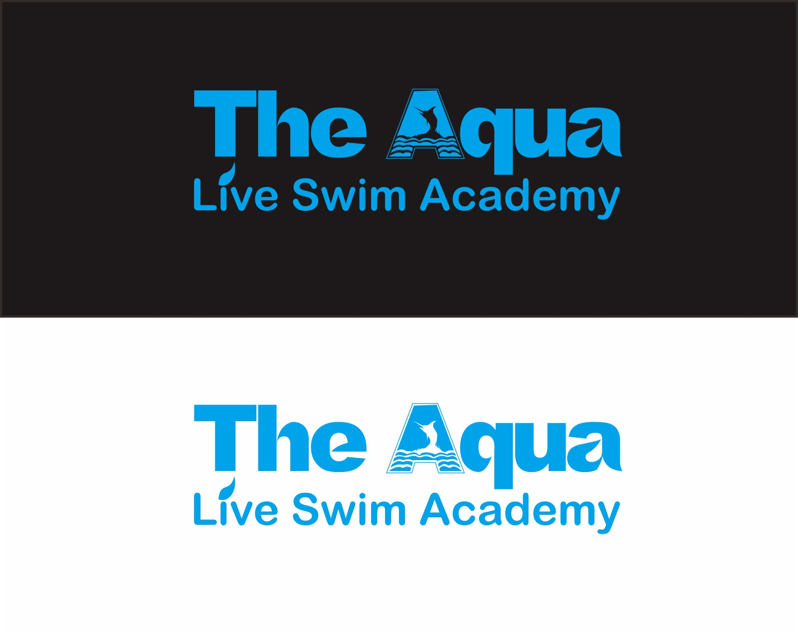 Logo Design by Muhammad Faris - Entry No. 117 in the Logo Design Contest Artistic Logo Design Wanted for The Aqua Life Swim Academy.