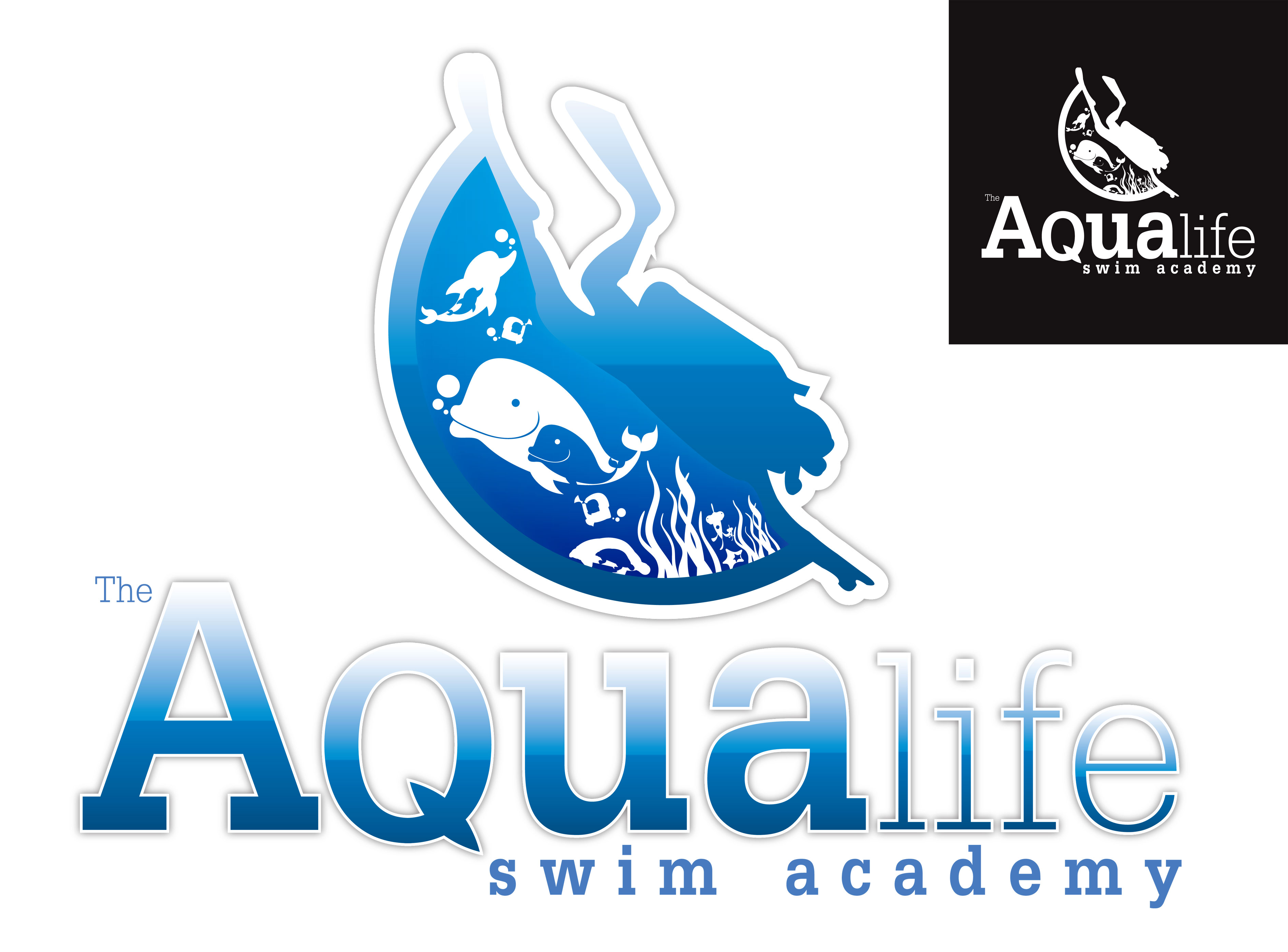 Logo Design by Dit Pambudi - Entry No. 119 in the Logo Design Contest Artistic Logo Design Wanted for The Aqua Life Swim Academy.