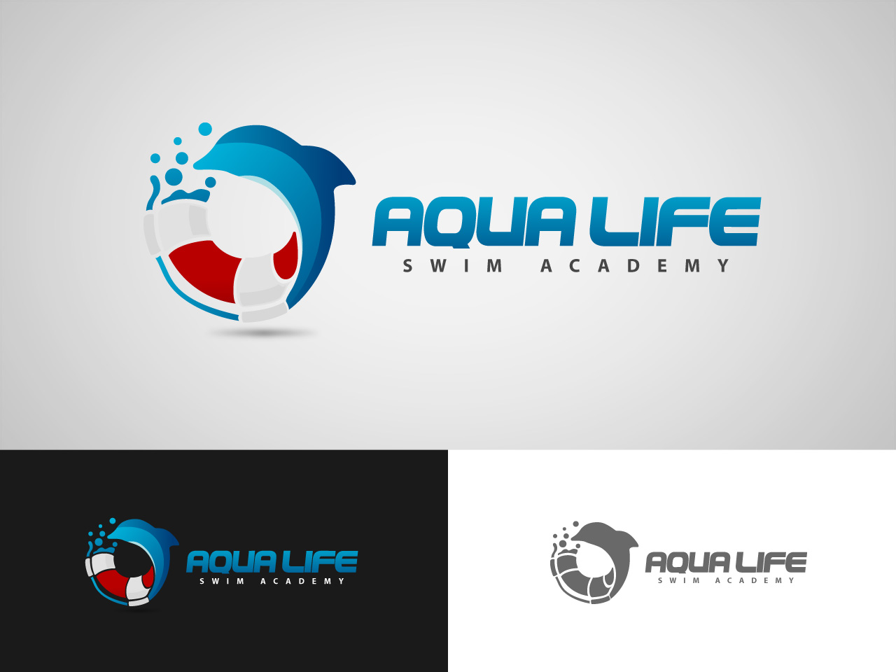 Logo Design by jpbituin - Entry No. 120 in the Logo Design Contest Artistic Logo Design Wanted for The Aqua Life Swim Academy.