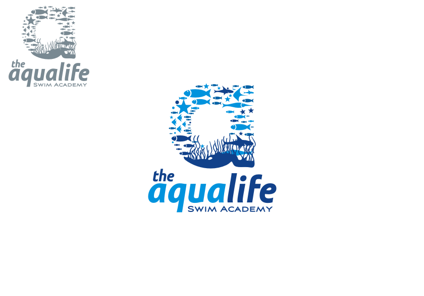 Logo Design by graphicleaf - Entry No. 134 in the Logo Design Contest Artistic Logo Design Wanted for The Aqua Life Swim Academy.