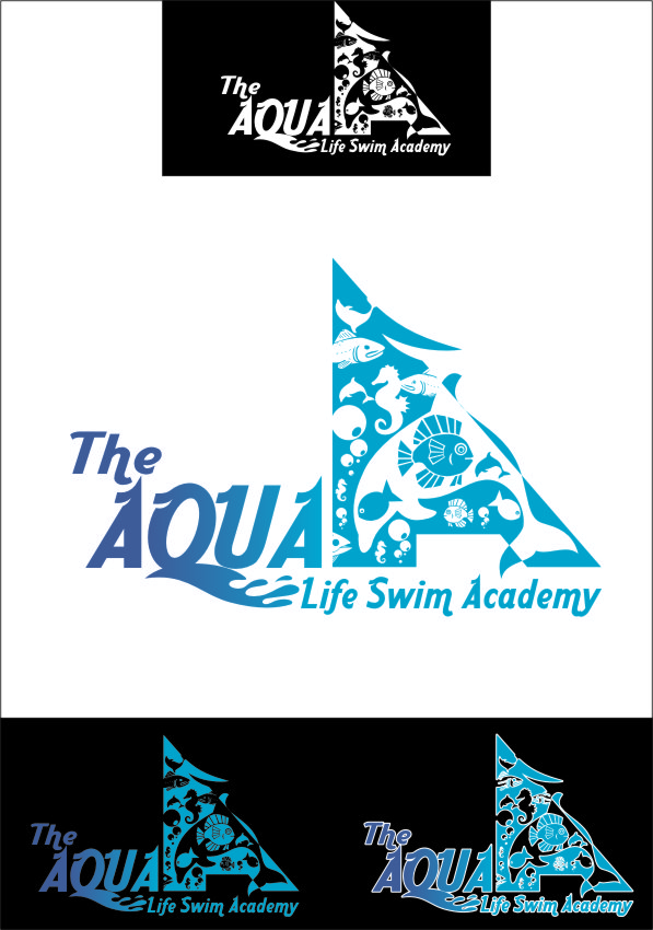 Logo Design by Ngepet_art - Entry No. 137 in the Logo Design Contest Artistic Logo Design Wanted for The Aqua Life Swim Academy.