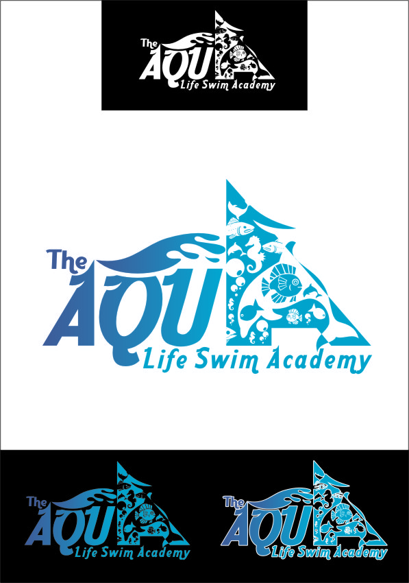 Logo Design by RasYa Muhammad Athaya - Entry No. 139 in the Logo Design Contest Artistic Logo Design Wanted for The Aqua Life Swim Academy.