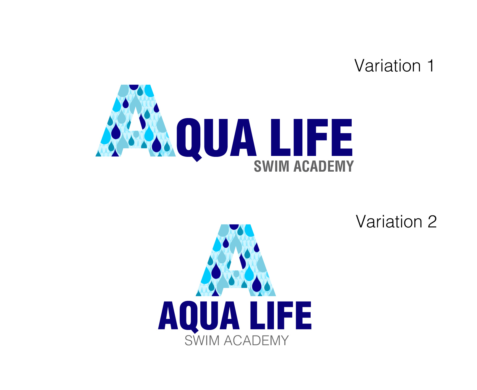 Logo Design by Lama Creative - Entry No. 140 in the Logo Design Contest Artistic Logo Design Wanted for The Aqua Life Swim Academy.
