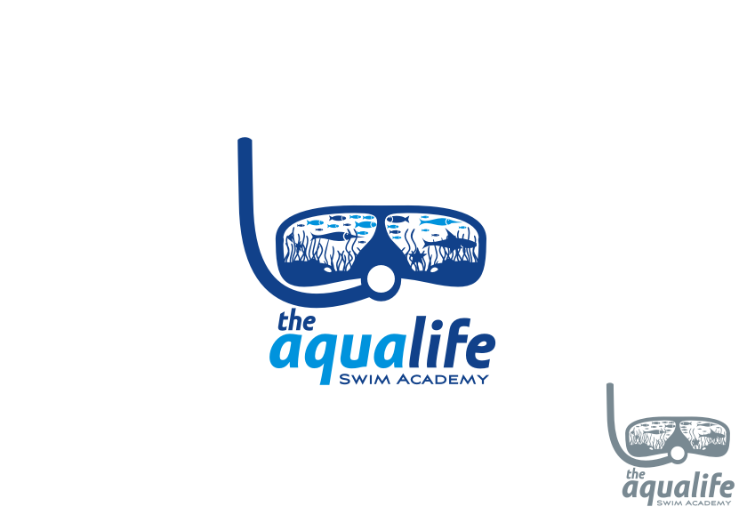 Logo Design by graphicleaf - Entry No. 142 in the Logo Design Contest Artistic Logo Design Wanted for The Aqua Life Swim Academy.
