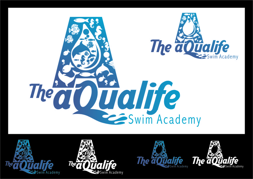 Logo Design by RasYa Muhammad Athaya - Entry No. 146 in the Logo Design Contest Artistic Logo Design Wanted for The Aqua Life Swim Academy.