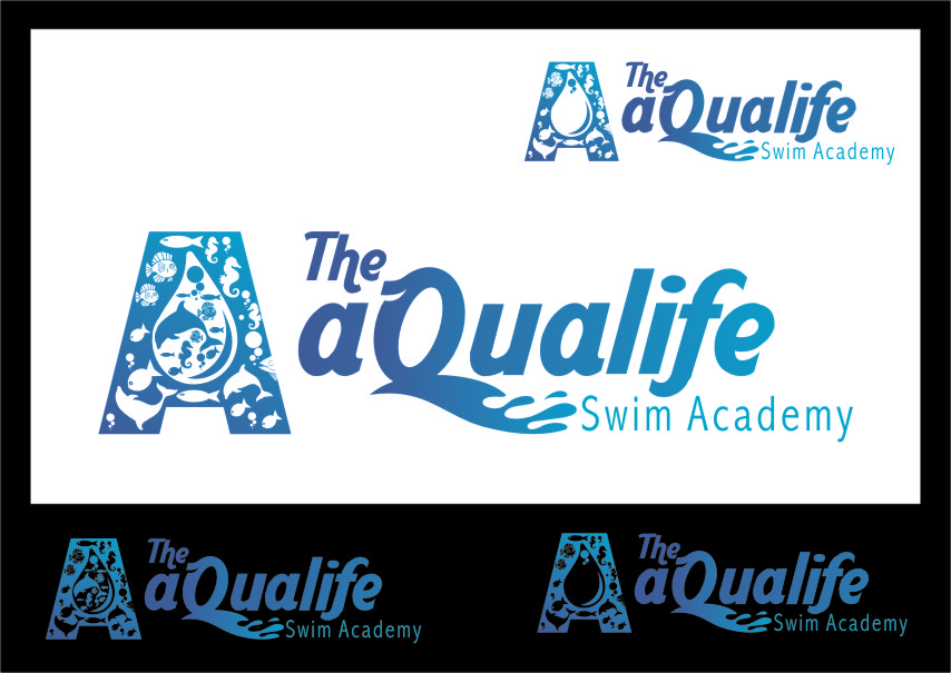 Logo Design by RasYa Muhammad Athaya - Entry No. 147 in the Logo Design Contest Artistic Logo Design Wanted for The Aqua Life Swim Academy.
