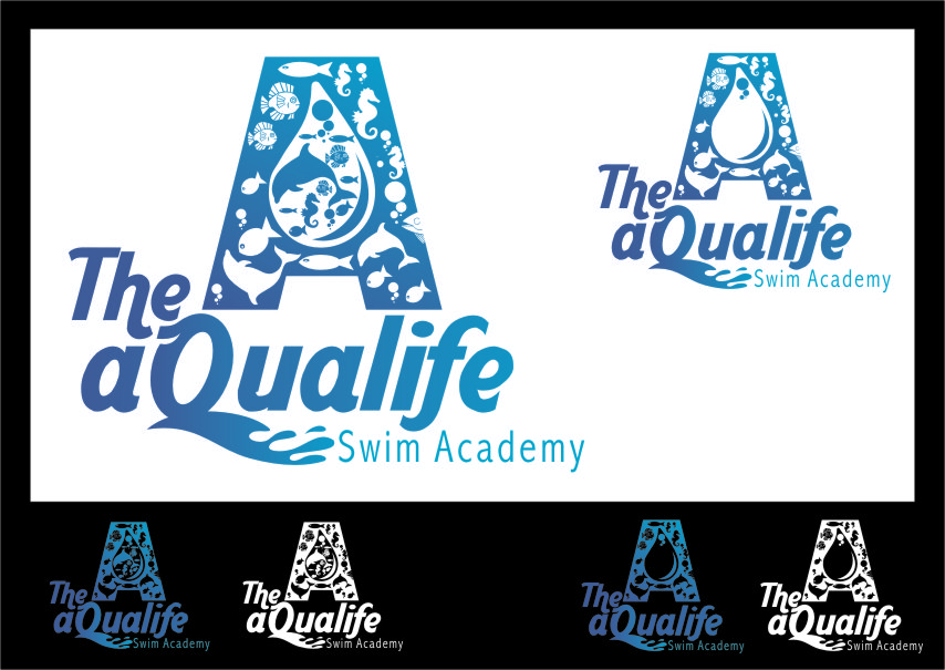 Logo Design by RoSyid Rono-Rene On Java - Entry No. 148 in the Logo Design Contest Artistic Logo Design Wanted for The Aqua Life Swim Academy.