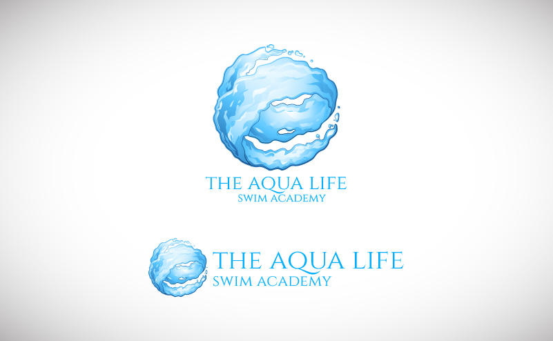 Logo Design by Shahriar Zaman - Entry No. 149 in the Logo Design Contest Artistic Logo Design Wanted for The Aqua Life Swim Academy.