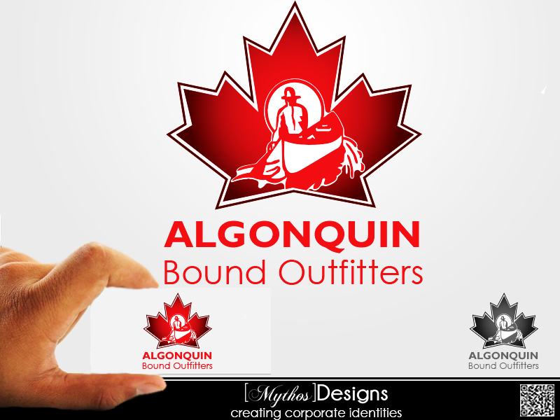 Logo Design by Mythos Designs - Entry No. 115 in the Logo Design Contest Captivating Logo Design for Algonquin Bound Outfitters.