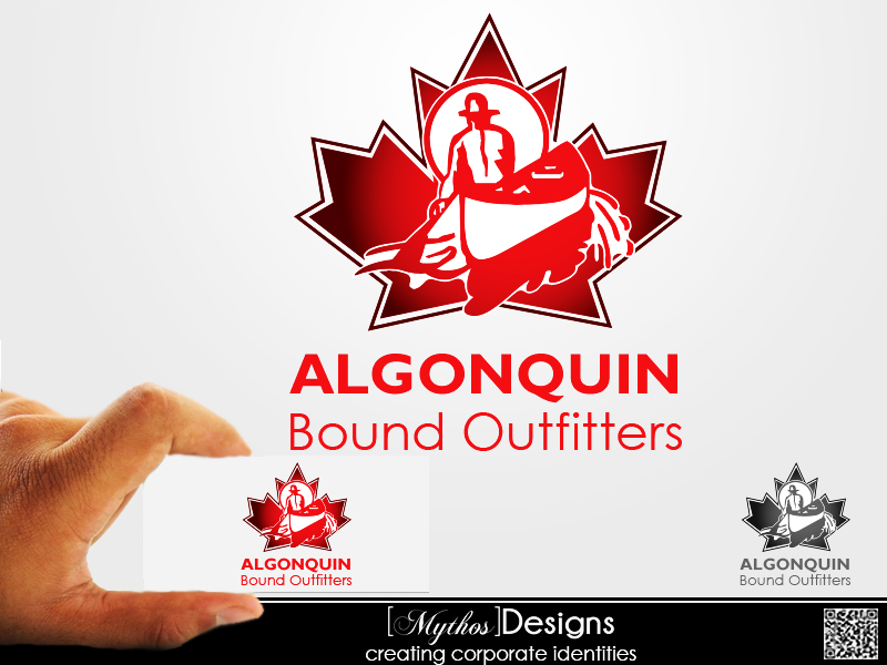 Logo Design by Mythos Designs - Entry No. 116 in the Logo Design Contest Captivating Logo Design for Algonquin Bound Outfitters.