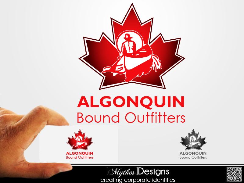 Logo Design by Mythos Designs - Entry No. 117 in the Logo Design Contest Captivating Logo Design for Algonquin Bound Outfitters.