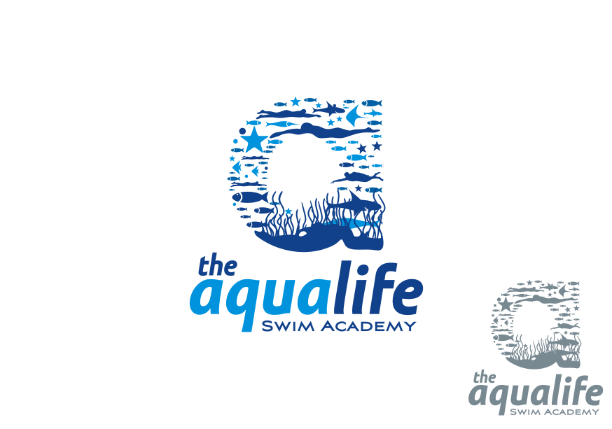 Logo Design by graphicleaf - Entry No. 151 in the Logo Design Contest Artistic Logo Design Wanted for The Aqua Life Swim Academy.