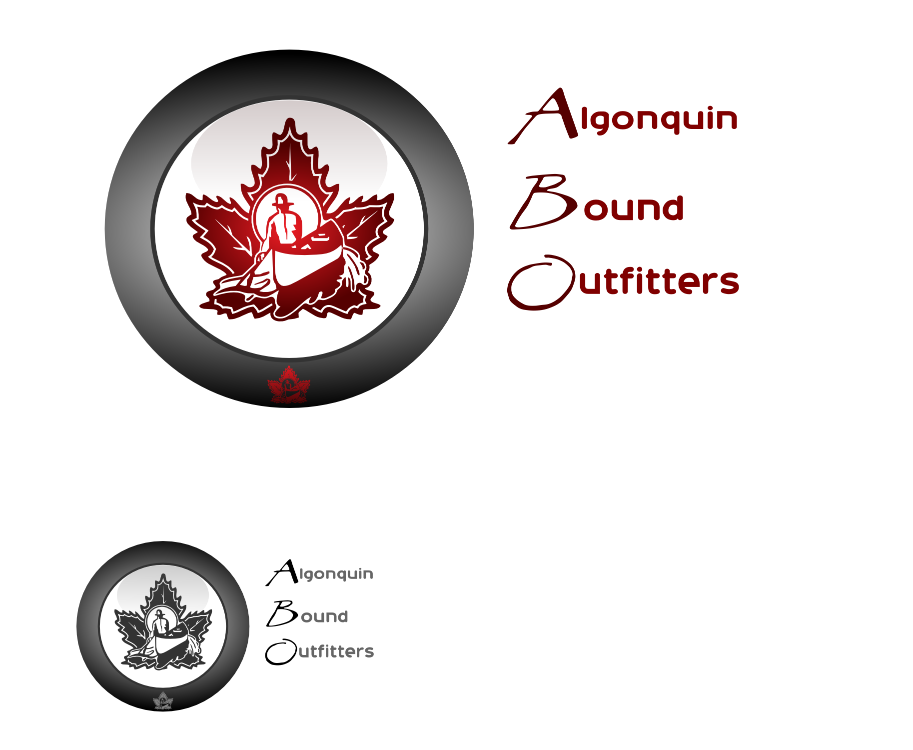 Logo Design by Arindam Khanda - Entry No. 122 in the Logo Design Contest Captivating Logo Design for Algonquin Bound Outfitters.