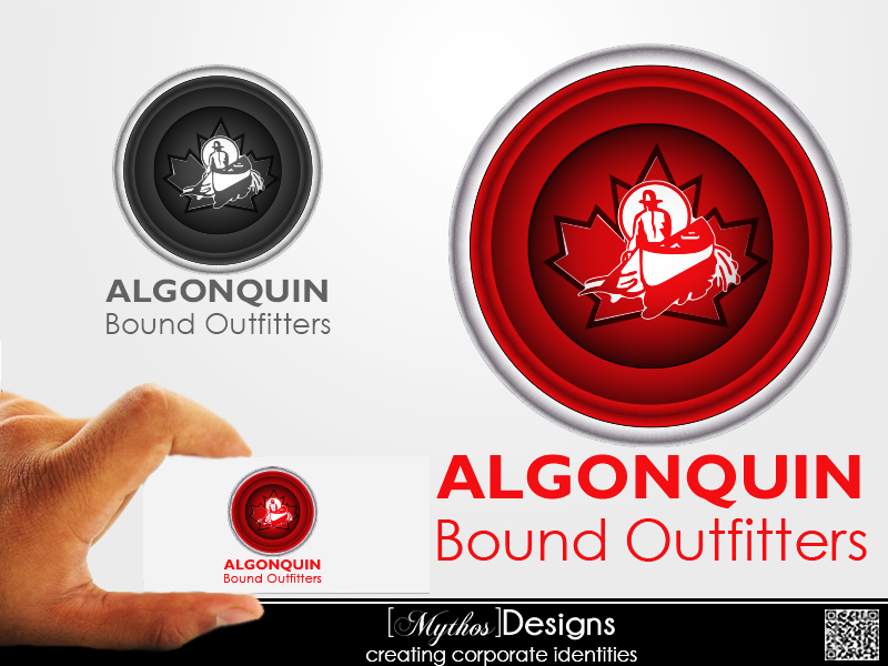 Logo Design by Mythos Designs - Entry No. 137 in the Logo Design Contest Captivating Logo Design for Algonquin Bound Outfitters.