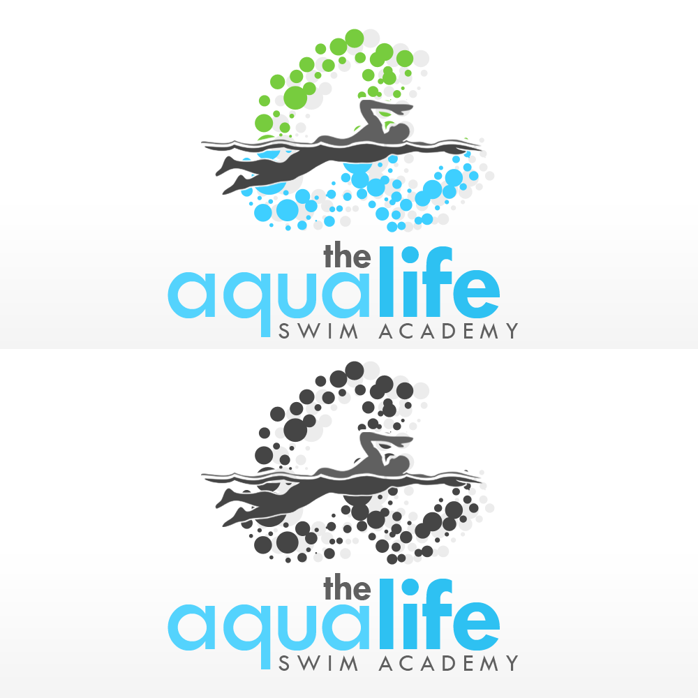 Logo Design by Kenneth Joel - Entry No. 158 in the Logo Design Contest Artistic Logo Design Wanted for The Aqua Life Swim Academy.