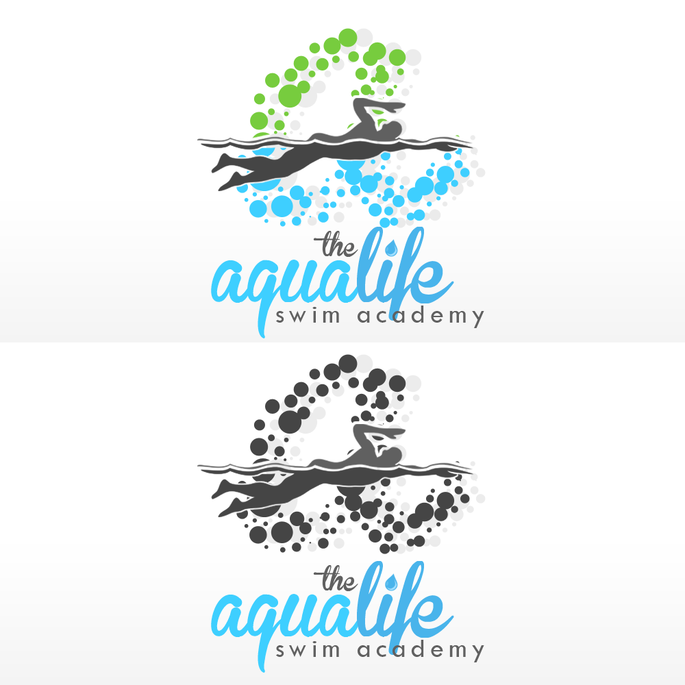 Logo Design by Kenneth Joel - Entry No. 159 in the Logo Design Contest Artistic Logo Design Wanted for The Aqua Life Swim Academy.