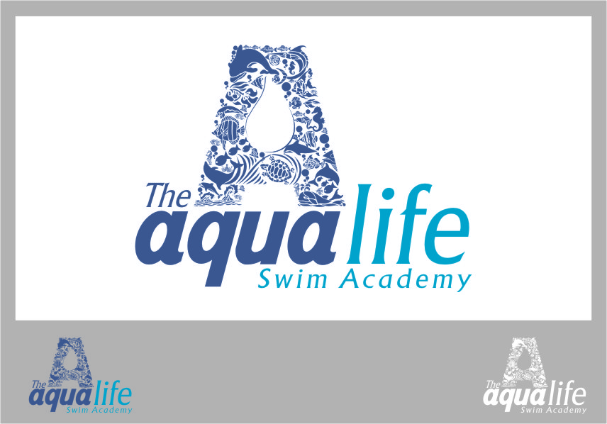 Logo Design by Ngepet_art - Entry No. 160 in the Logo Design Contest Artistic Logo Design Wanted for The Aqua Life Swim Academy.