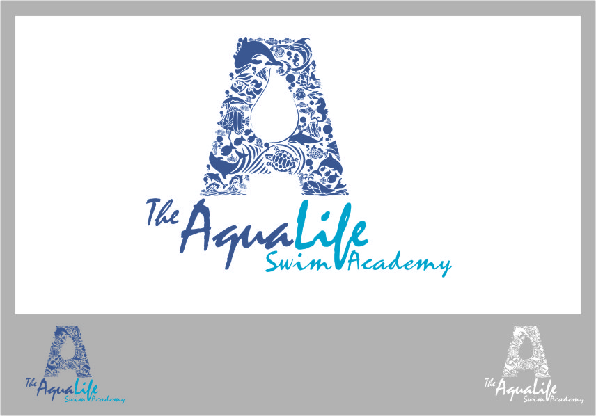 Logo Design by Ngepet_art - Entry No. 162 in the Logo Design Contest Artistic Logo Design Wanted for The Aqua Life Swim Academy.