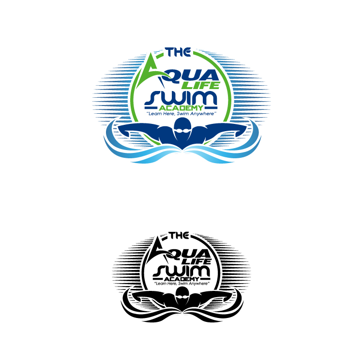 Logo Design by lagalag - Entry No. 166 in the Logo Design Contest Artistic Logo Design Wanted for The Aqua Life Swim Academy.