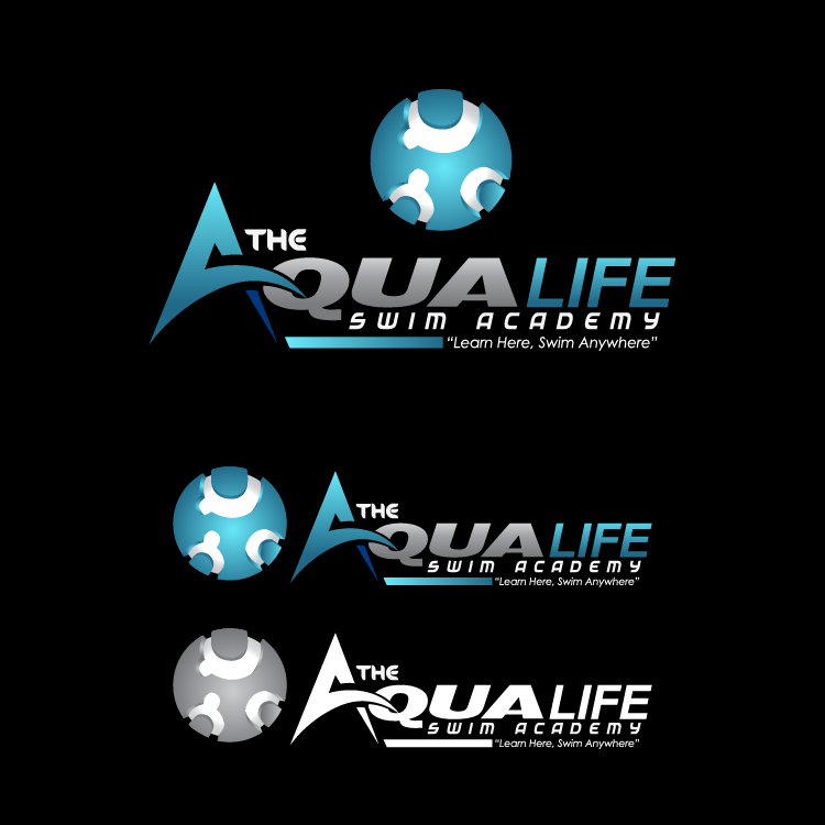 Logo Design by lagalag - Entry No. 181 in the Logo Design Contest Artistic Logo Design Wanted for The Aqua Life Swim Academy.
