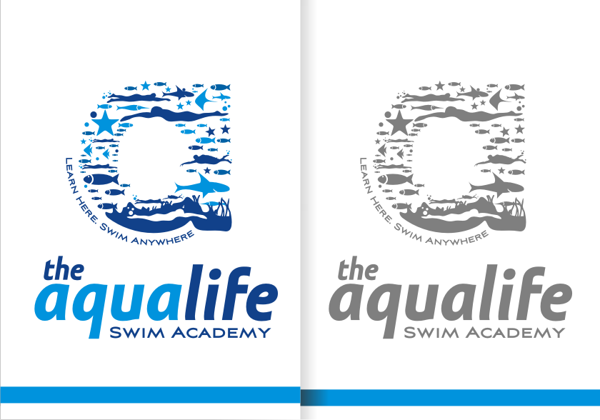 Logo Design by graphicleaf - Entry No. 203 in the Logo Design Contest Artistic Logo Design Wanted for The Aqua Life Swim Academy.