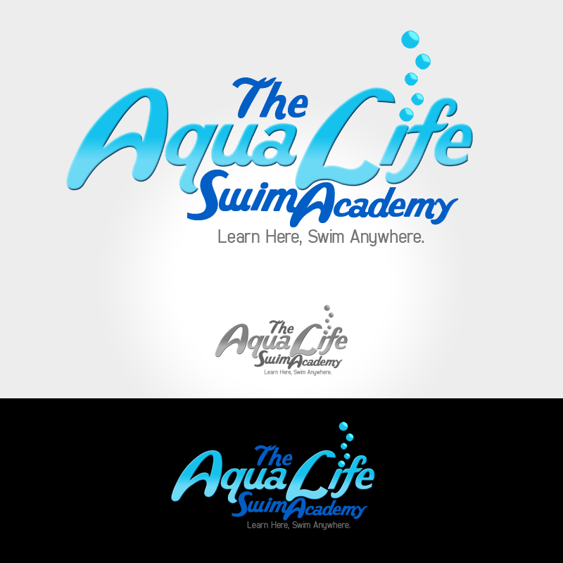 Logo Design by Private User - Entry No. 206 in the Logo Design Contest Artistic Logo Design Wanted for The Aqua Life Swim Academy.