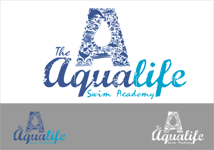 Logo Design by RoSyid Rono-Rene On Java - Entry No. 209 in the Logo Design Contest Artistic Logo Design Wanted for The Aqua Life Swim Academy.
