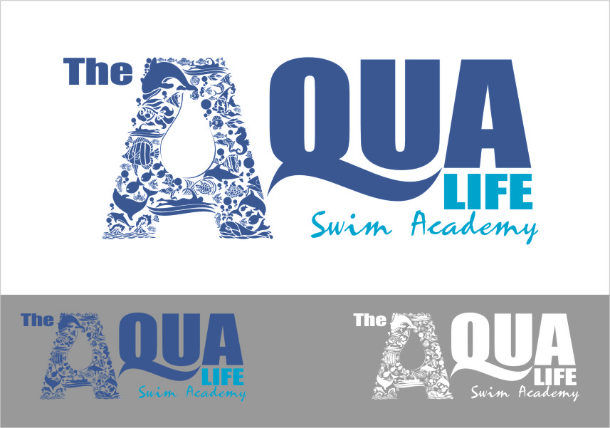 Logo Design by Ngepet_art - Entry No. 211 in the Logo Design Contest Artistic Logo Design Wanted for The Aqua Life Swim Academy.
