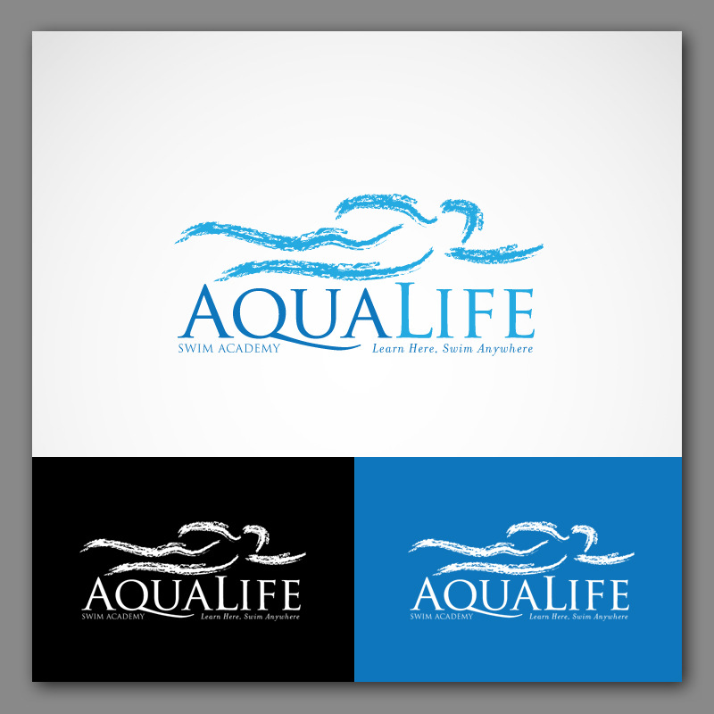 Logo Design by Adi Bustaman - Entry No. 212 in the Logo Design Contest Artistic Logo Design Wanted for The Aqua Life Swim Academy.