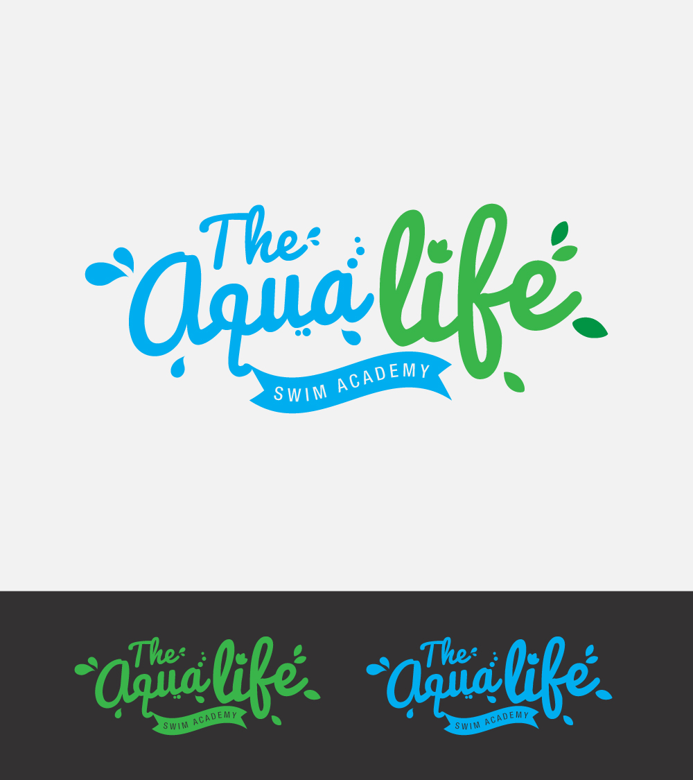 Logo Design by Mathias Frisa - Entry No. 213 in the Logo Design Contest Artistic Logo Design Wanted for The Aqua Life Swim Academy.