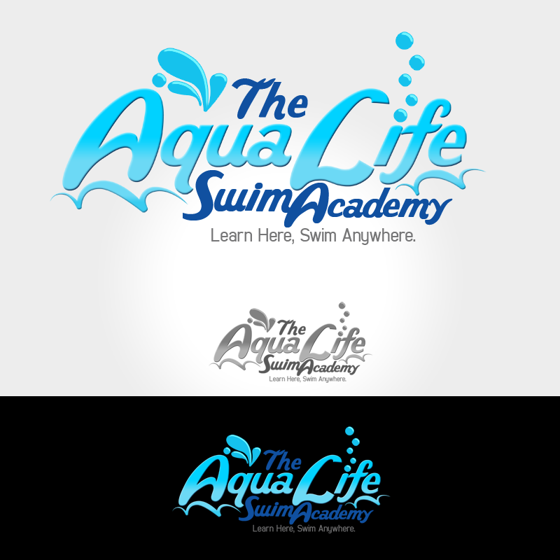 Logo Design by Private User - Entry No. 215 in the Logo Design Contest Artistic Logo Design Wanted for The Aqua Life Swim Academy.