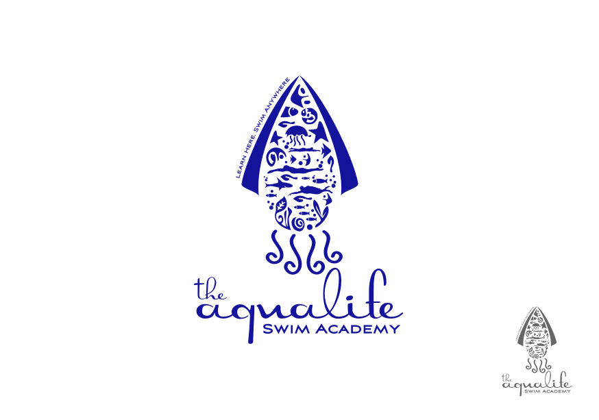 Logo Design by Muhammad Nasrul chasib - Entry No. 216 in the Logo Design Contest Artistic Logo Design Wanted for The Aqua Life Swim Academy.