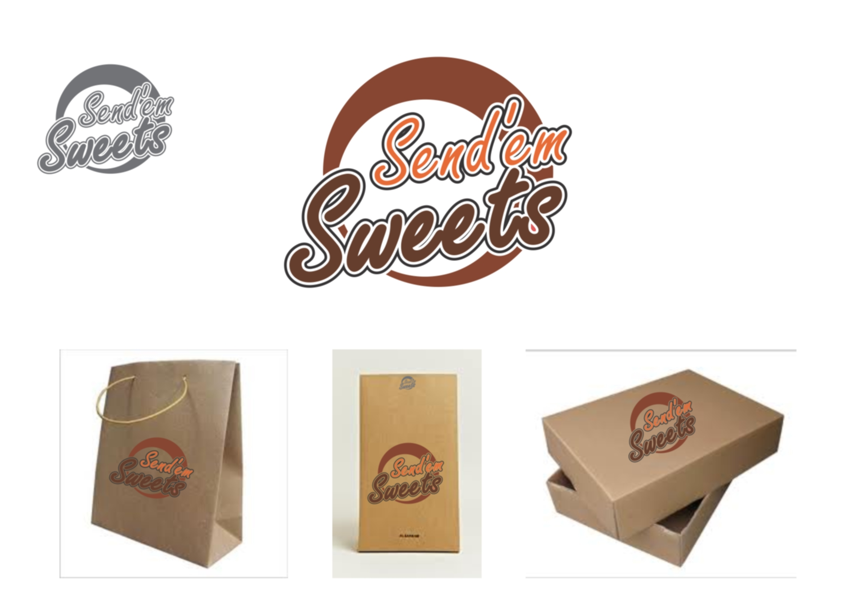 Logo Design by Private User - Entry No. 37 in the Logo Design Contest Creative Logo Design for Send 'em Sweets.