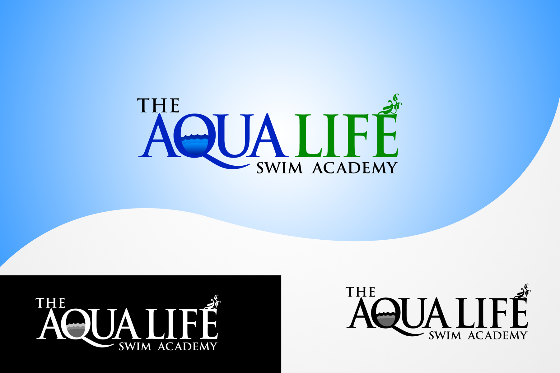 Logo Design by Private User - Entry No. 218 in the Logo Design Contest Artistic Logo Design Wanted for The Aqua Life Swim Academy.