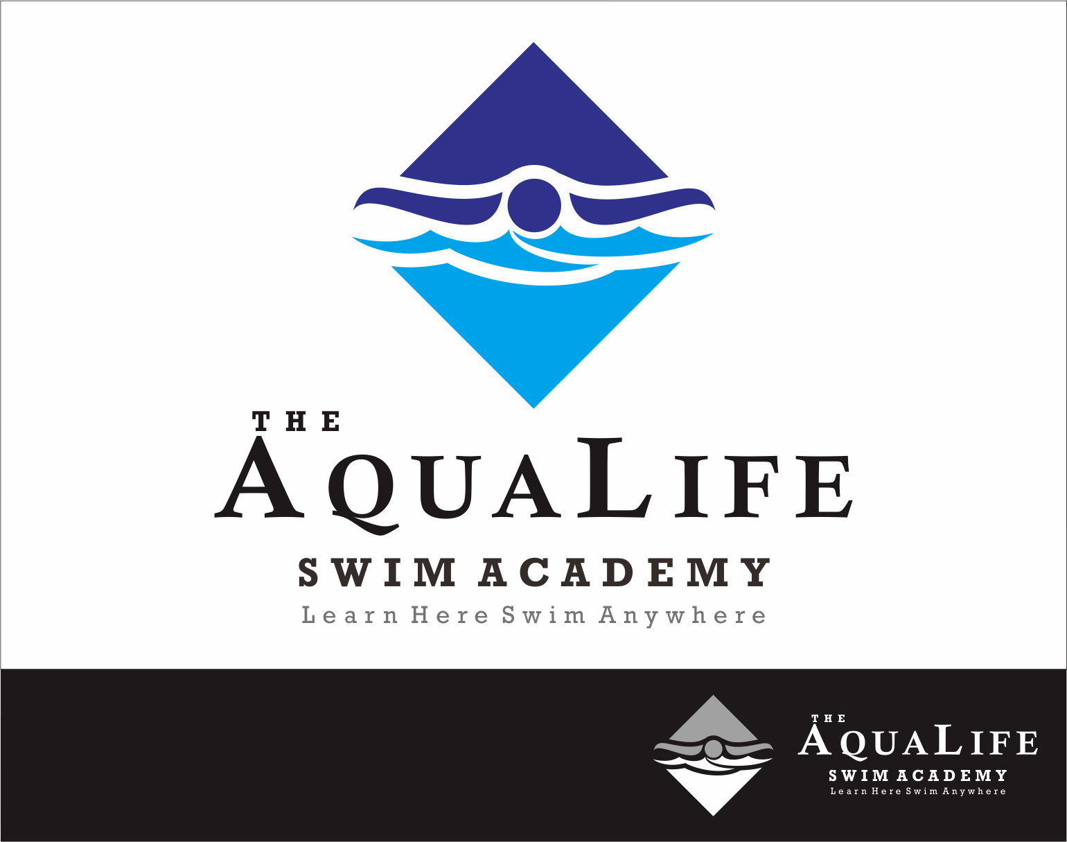 Logo Design by Armada Jamaluddin - Entry No. 222 in the Logo Design Contest Artistic Logo Design Wanted for The Aqua Life Swim Academy.