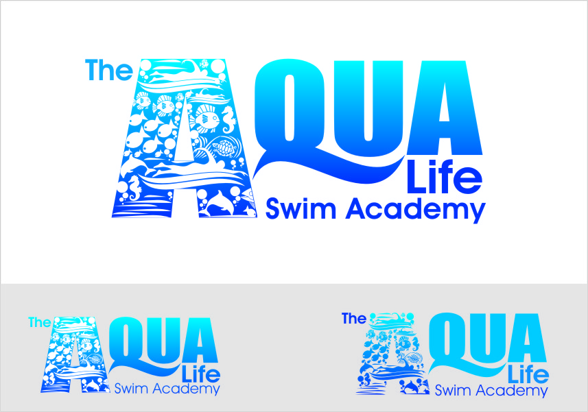 Logo Design by Ngepet_art - Entry No. 223 in the Logo Design Contest Artistic Logo Design Wanted for The Aqua Life Swim Academy.
