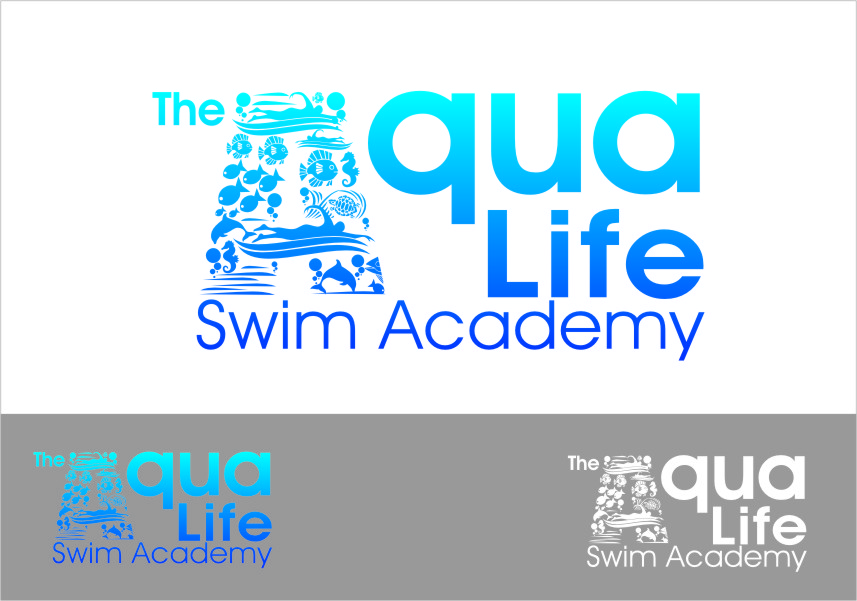 Logo Design by RoSyid Rono-Rene On Java - Entry No. 224 in the Logo Design Contest Artistic Logo Design Wanted for The Aqua Life Swim Academy.