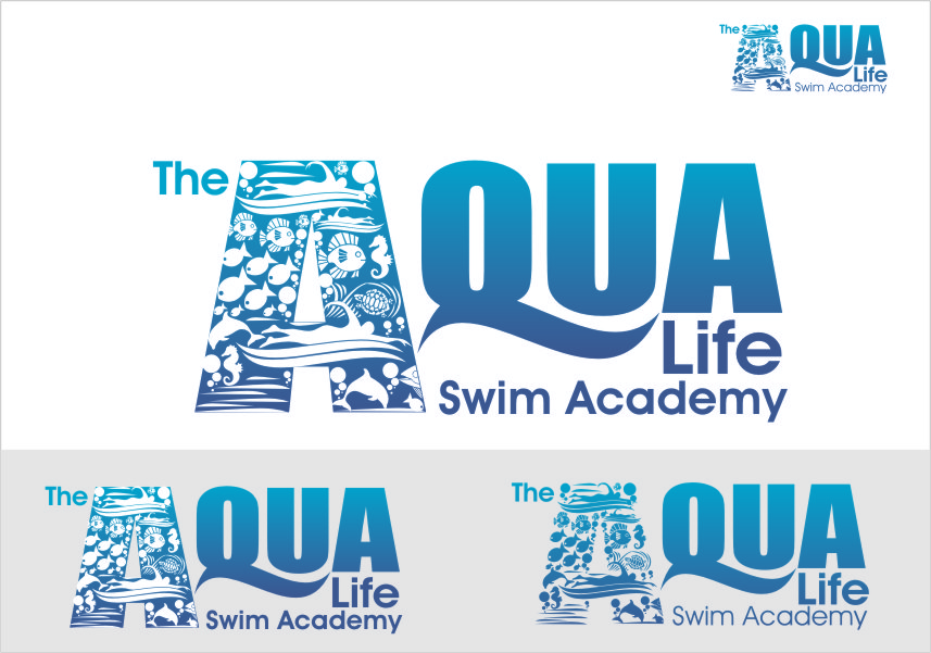 Logo Design by RoSyid Rono-Rene On Java - Entry No. 225 in the Logo Design Contest Artistic Logo Design Wanted for The Aqua Life Swim Academy.
