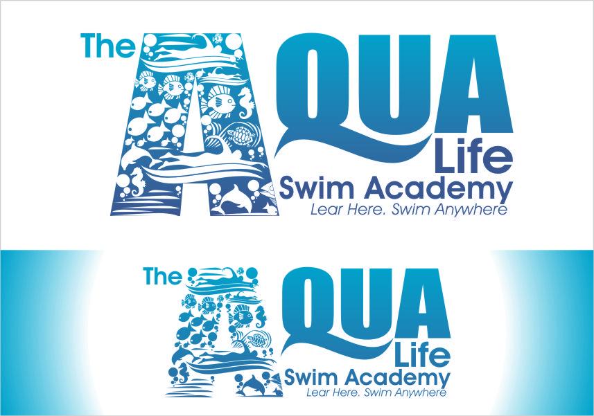 Logo Design by Ngepet_art - Entry No. 226 in the Logo Design Contest Artistic Logo Design Wanted for The Aqua Life Swim Academy.
