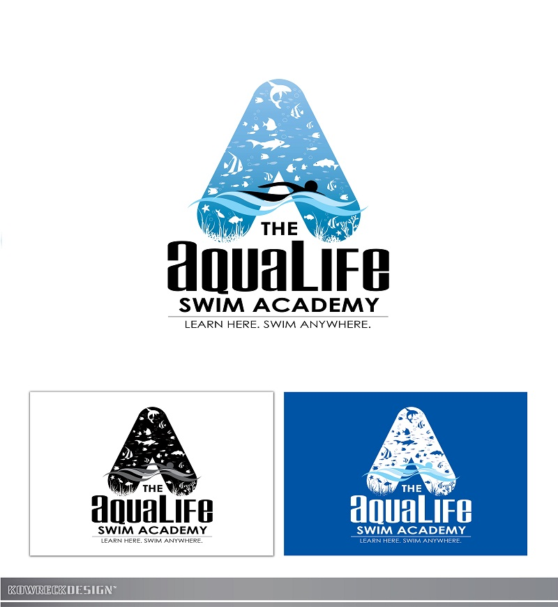 Logo Design by kowreck - Entry No. 229 in the Logo Design Contest Artistic Logo Design Wanted for The Aqua Life Swim Academy.