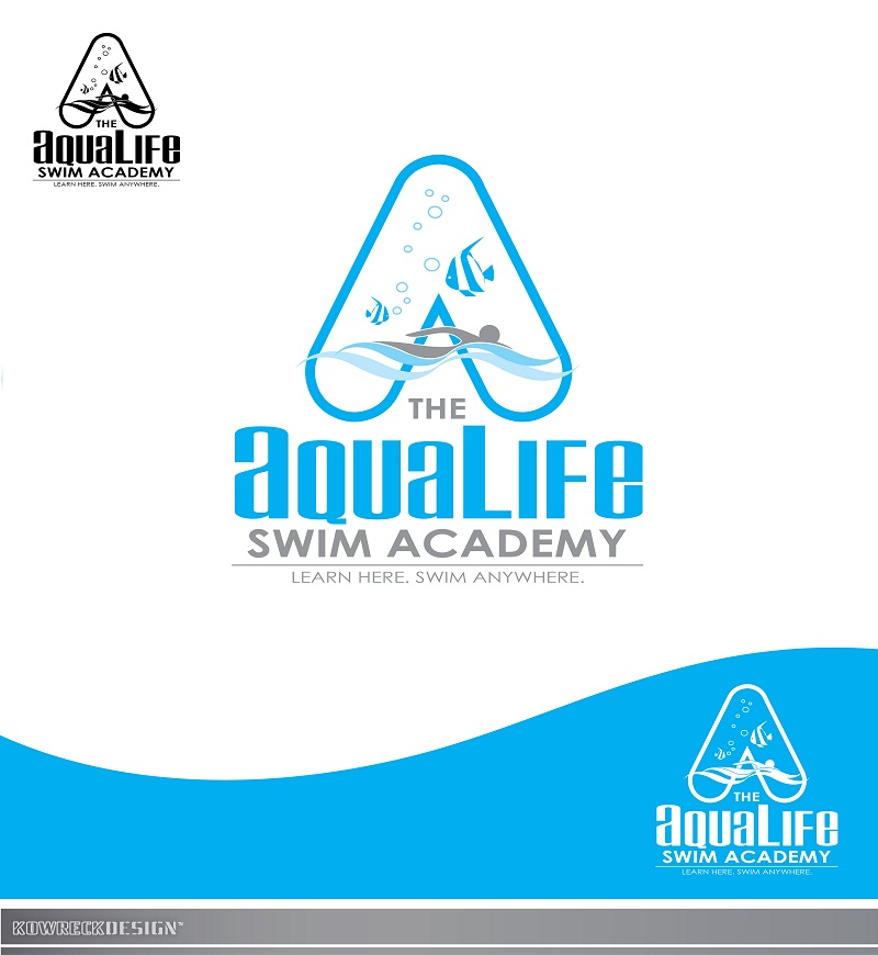 Logo Design by kowreck - Entry No. 230 in the Logo Design Contest Artistic Logo Design Wanted for The Aqua Life Swim Academy.