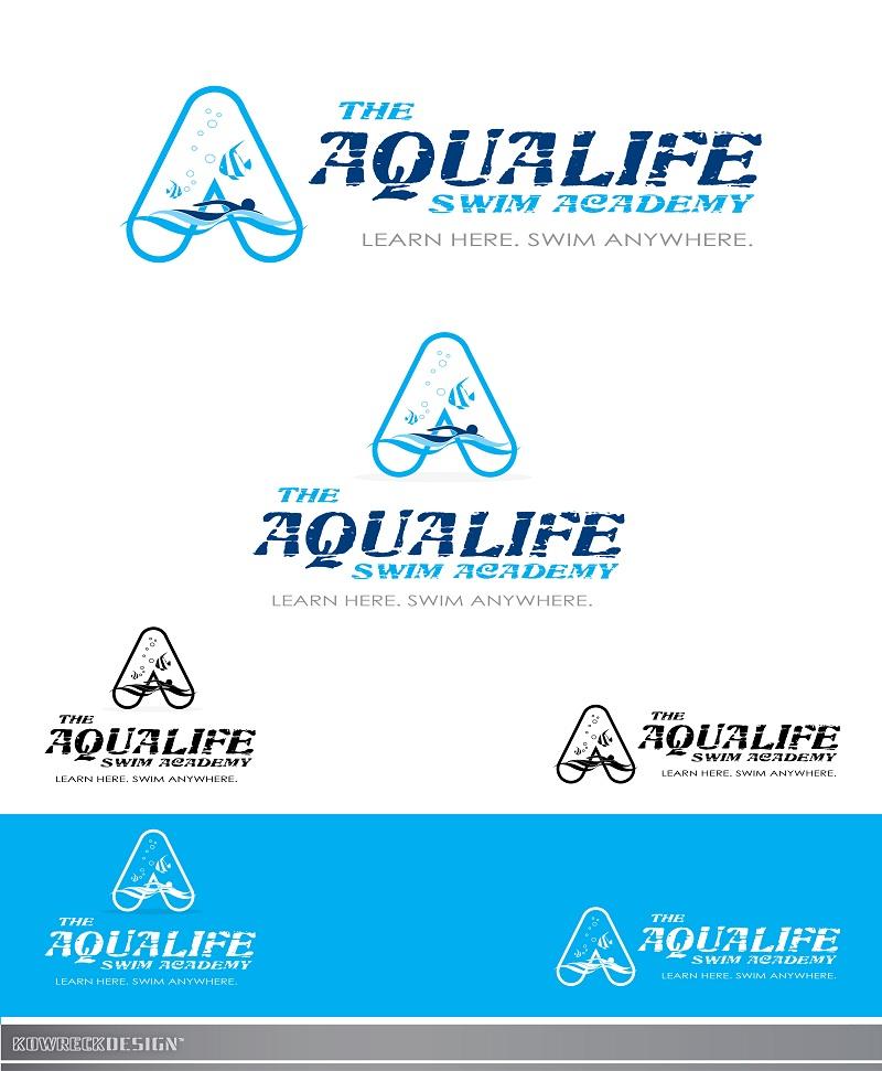 Logo Design by kowreck - Entry No. 232 in the Logo Design Contest Artistic Logo Design Wanted for The Aqua Life Swim Academy.