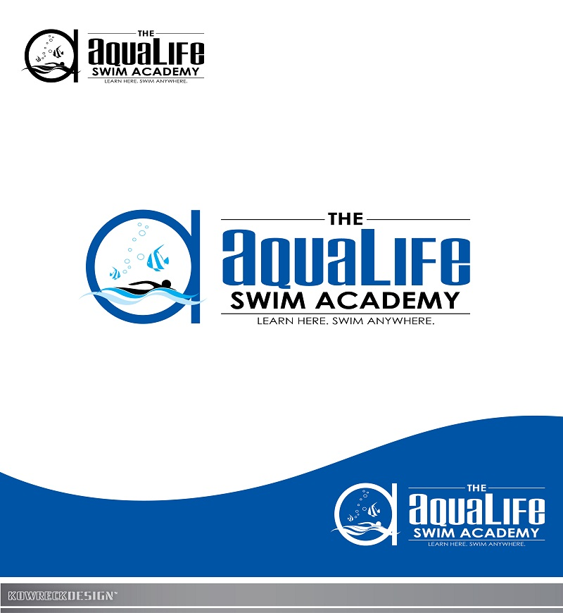 Logo Design by kowreck - Entry No. 233 in the Logo Design Contest Artistic Logo Design Wanted for The Aqua Life Swim Academy.