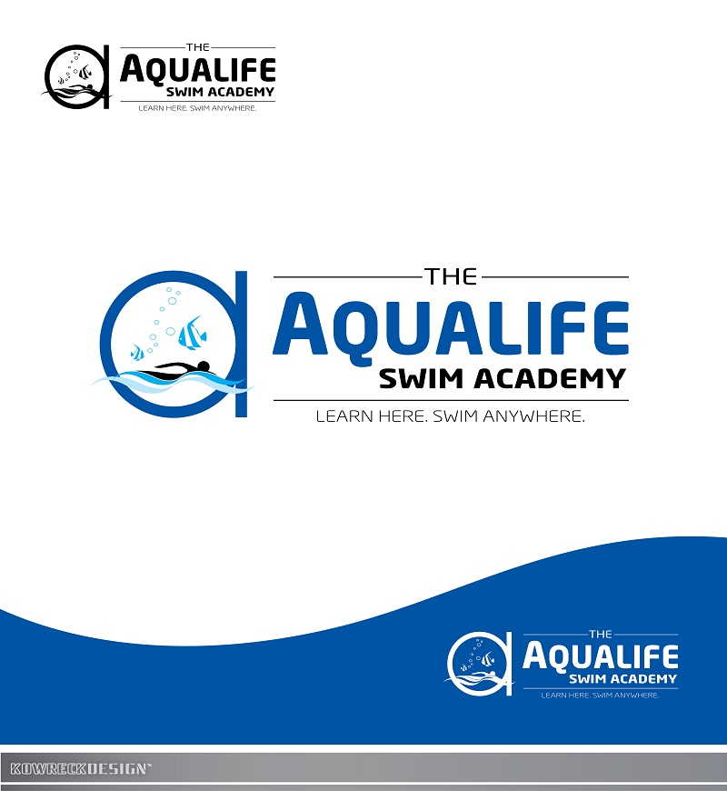 Logo Design by kowreck - Entry No. 234 in the Logo Design Contest Artistic Logo Design Wanted for The Aqua Life Swim Academy.
