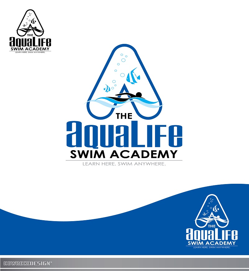 Logo Design by kowreck - Entry No. 235 in the Logo Design Contest Artistic Logo Design Wanted for The Aqua Life Swim Academy.