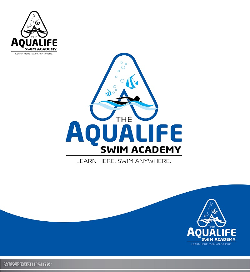 Logo Design by kowreck - Entry No. 236 in the Logo Design Contest Artistic Logo Design Wanted for The Aqua Life Swim Academy.
