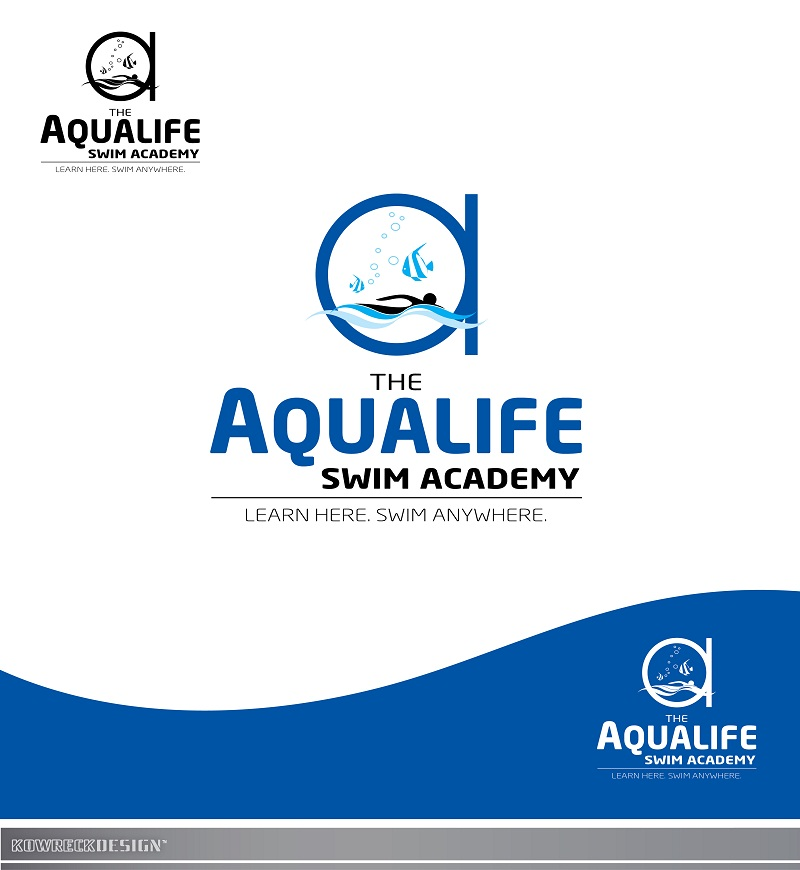 Logo Design by kowreck - Entry No. 237 in the Logo Design Contest Artistic Logo Design Wanted for The Aqua Life Swim Academy.