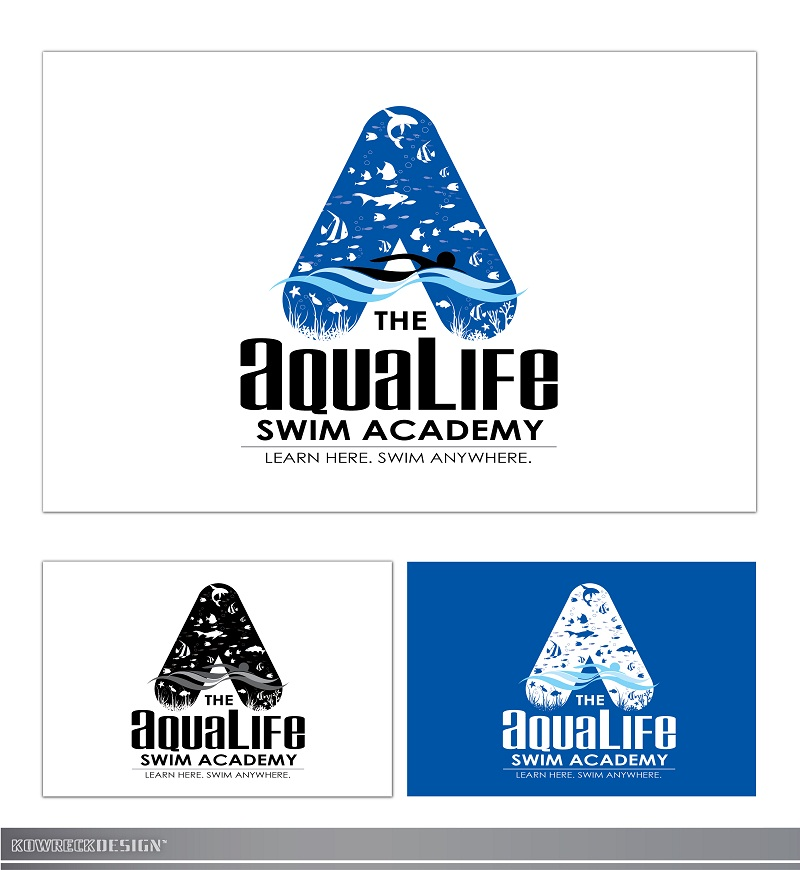 Logo Design by kowreck - Entry No. 238 in the Logo Design Contest Artistic Logo Design Wanted for The Aqua Life Swim Academy.