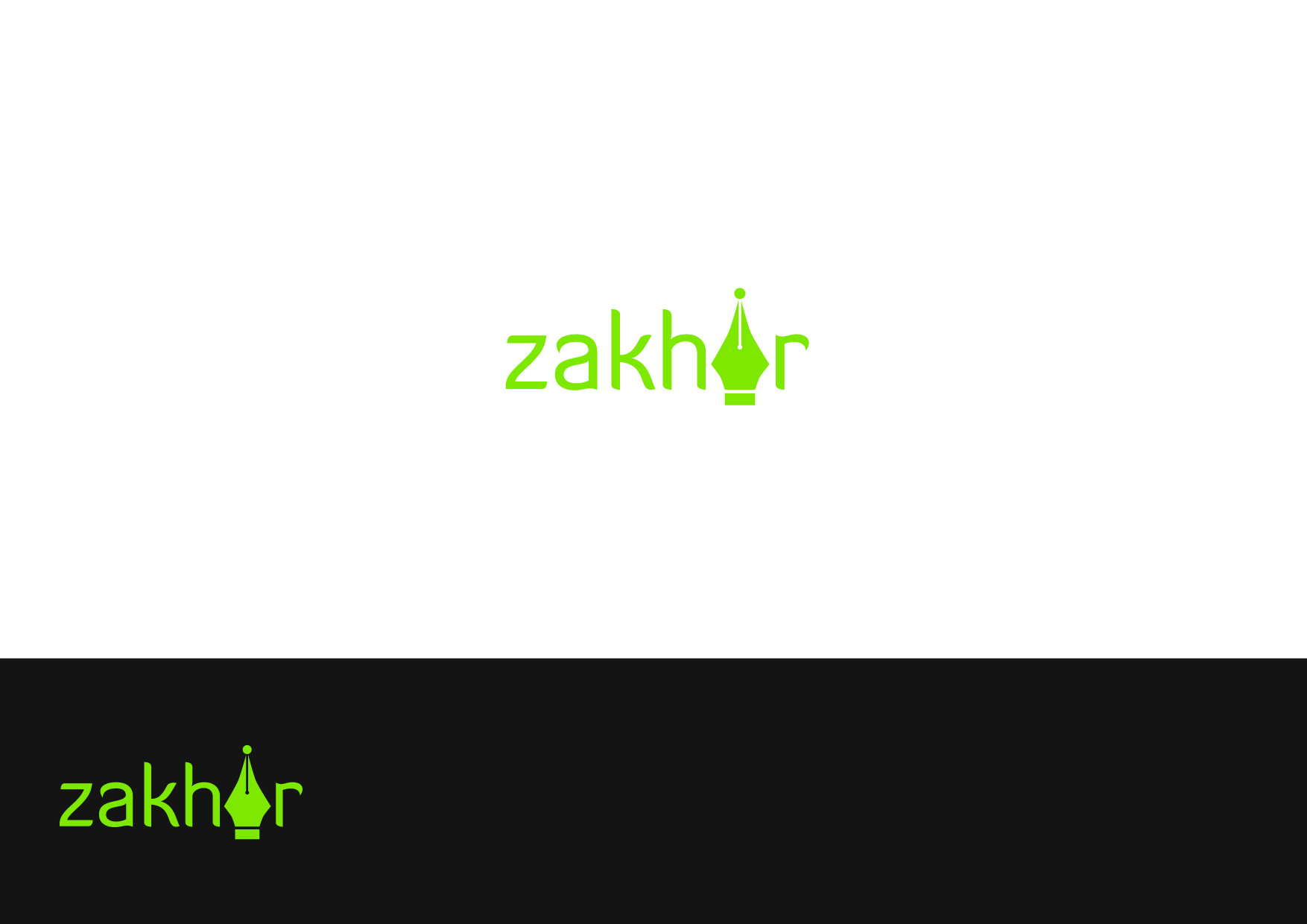 Logo Design by Osi Indra - Entry No. 6 in the Logo Design Contest Zakhir Logo Design.
