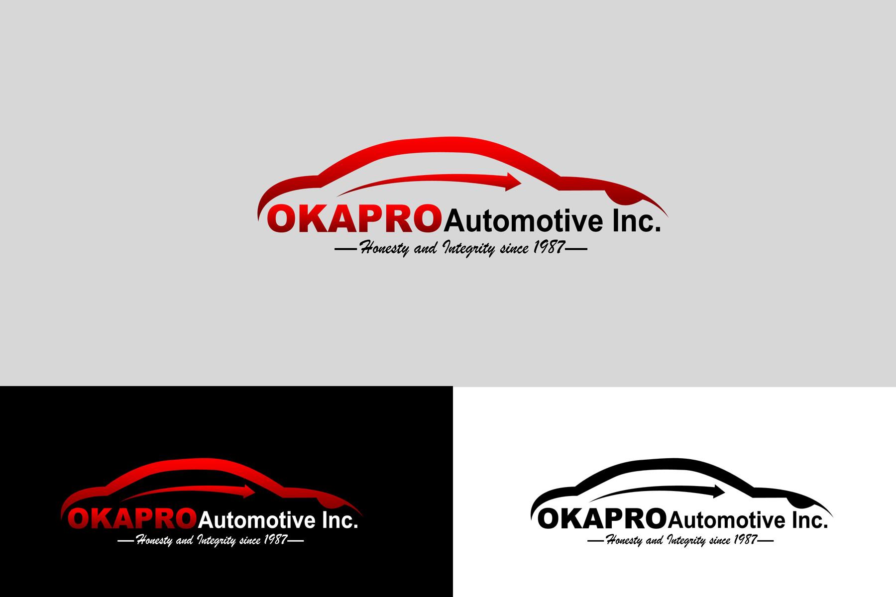 Logo Design by Private User - Entry No. 9 in the Logo Design Contest New Logo Design for Okapro  Automotive  Inc.